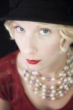 Rijke Verleidelijke Vrouw die net u bekijken! Royalty-vrije Stock Foto