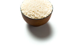 Een rijst in een kom Stock Foto