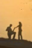 Een ring van de overeenkomstendiamant in boeket van rozen Stock Afbeelding