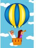 Een rit van de hete luchtballon Royalty-vrije Stock Foto's