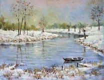 Een rivier Niederrein Stock Afbeeldingen