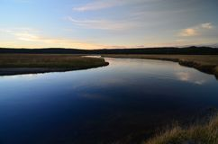 Een rivier van de Weide bij Nationaal Park Yellowstone Royalty-vrije Stock Fotografie