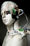 Een robot Stock Afbeeldingen