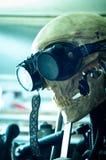 Een robot met beschermende brillen Stock Foto