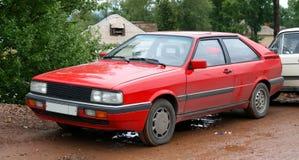 Een rode auto Stock Foto