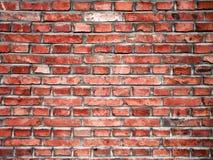 Een rode bakstenen muur Royalty-vrije Stock Foto's