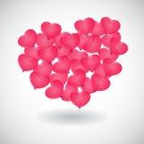 Een rode ballon in de vorm van hart Royalty-vrije Stock Foto