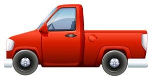 Een rode bestelwagen Stock Fotografie