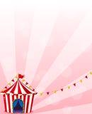 Een rode circustent met banners Royalty-vrije Stock Foto's