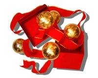 Een rode en Gouden Vakantie Stock Fotografie