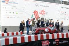Een rode Giannini 750 S Barchetta Royalty-vrije Stock Fotografie