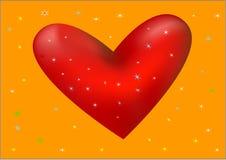 Een rode hart vectorillustratie Royalty-vrije Stock Foto