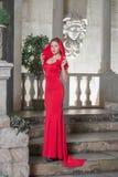 In een rode kleding Royalty-vrije Stock Afbeelding