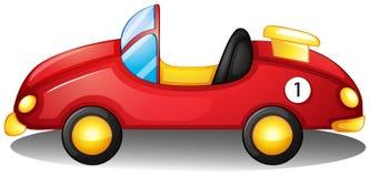 Een rode stuk speelgoed auto vector illustratie