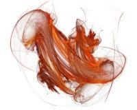 Een rode Vorm van de vloeibaar-Damp op Wit Royalty-vrije Stock Afbeeldingen