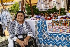 In een Roemeense Bazaar stock afbeeldingen