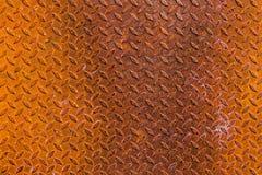 Een roestige staalplaat Royalty-vrije Stock Afbeeldingen
