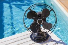 Een roestige uitstekende ventilator Stock Foto