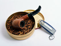 Een rokende pijp Royalty-vrije Stock Fotografie