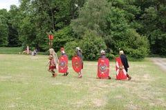 Een Roman cohort Stock Foto's