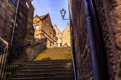 Een romantische gang in Edinburgh stock afbeelding