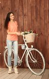 Een romantische jonge vrouw Stock Foto