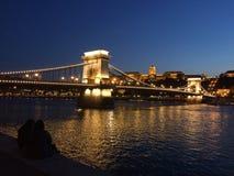 Een romantische scène op de Donau Stock Foto