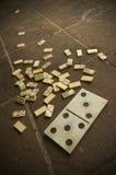 Een rommel gemaakte van domino Royalty-vrije Stock Afbeelding