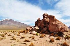 Een rots bij de woestijn Royalty-vrije Stock Afbeeldingen