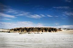 Een rotsachtige dagzomende aardlaag bij het Nationale Park van Kaaplagrange royalty-vrije stock afbeelding