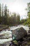 Een rotsachtige stroom Stock Foto