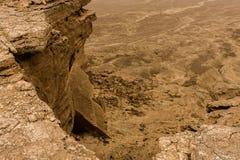 Een rotsklip van het plateauzuidoosten Raghabah, Saudi-Arabië royalty-vrije stock afbeeldingen