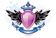 Roze CREST van het Schild stock illustratie