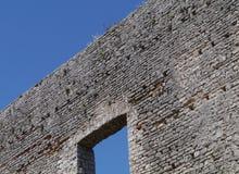 Een ruïne in Polace op Mljet in Kroatië Stock Afbeelding