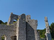 Een ruïne in Polace op Mljet in Kroatië Royalty-vrije Stock Afbeeldingen