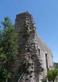 Een ruïne in Polace op Mljet in Kroatië Stock Foto's