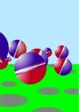 Een rubberbal. stock illustratie