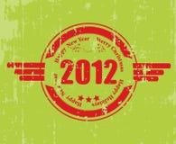 Een rubberzegel voor 2012 Stock Afbeelding