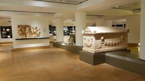 Een ruimte in het Nationale Museum van Beiroet Beiroet - de rotsen van de Duif stock fotografie