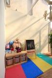 Een ruimte van het glasdak met zonneschijn Royalty-vrije Stock Foto's