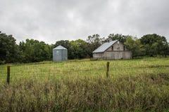 Een Rustieke Schuur in Madison County, Iowa, de V.S. royalty-vrije stock foto