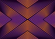 Een samenvatting die lijnkunst met oranje en blauwe gradiënt hypnotiseren stock illustratie