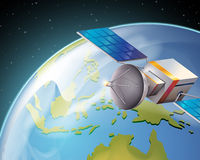 Een satelitte Stock Foto's