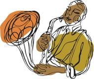 Een saxofoonspeler vector illustratie