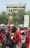 Een Scène van het Rood van 2018 voor ED-Leraar Strike in Arizona Stock Afbeeldingen