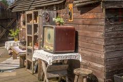 Een scène van een woonkamer in openlucht royalty-vrije stock foto's
