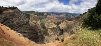 Een sc?ne van het Eiland Kauai op Hawa? stock foto's