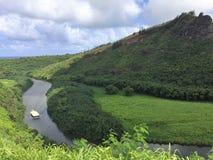 Een sc?ne van het Eiland Kauai op Hawa? royalty-vrije stock afbeelding