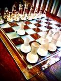 Een schaakreeks royalty-vrije stock foto