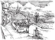 Een schets van de straat Royalty-vrije Stock Foto's